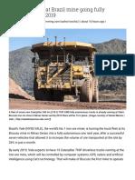 Vale Truck Fleet at Brazil Mine Going Fully Autonomous in 2019 _ MINING.com