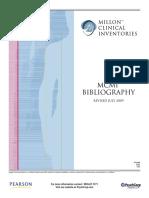 Bibliografía inglesa MCMI-III