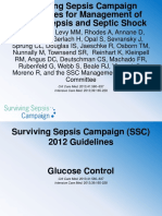 SSC 2012 Guidelines Teaching Glucose Control