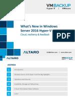 Whats New in Windows Server 2016 Hyper v Webinar Slides