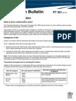 PT 301-09-18 Driver Authorisation FINAL