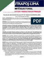 Comité Electoral Publicación