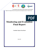 Monitoring and Evaluation final report