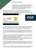 rap en español  musica hip hop  raperos