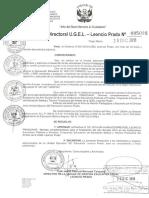 Directiva 021-Finalizacion Ano Escolar-2018