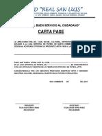 CARTA PASE R.S.L