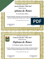 Diseño de Diploma de Honor-1ER