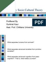 Vîgotski Socio Cultural Theory
