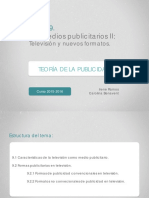 Tema 9 Los Medios Publicitarios II- Televisión y Nuevos Formatos