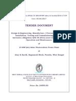 WBSEDCL-Solar _Tender-10 MW NIT_ Atna_Saridi