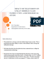 The Impact of Television on Sri Lankan Middle