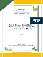 Anais Do III Seminário NEMAS - Final