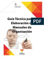 Guia Tecnica Elaboracion Manual de Organizacion
