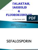 Antibiotik Saluran Nafas Sefalosporin Makrolid Fluorokuinolon DF 2017
