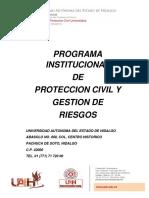 Programa de Proteccion Civil Universitaria