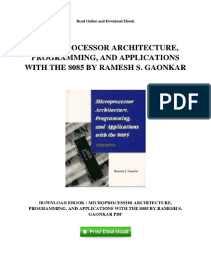 microprocessor 8085 by ramesh gaonkar pdf free download