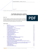 Pandemic Influenza Ethics Law and the Publics Health