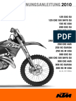 Bedienungsanleitung KTM EXC 2010