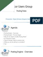 Aspera EUG - Posting Rules