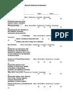 Speech Scoresheet