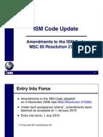 ISM Code Amendments_MSC Res 273(85)