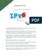 Calculo de Subredes IPv6
