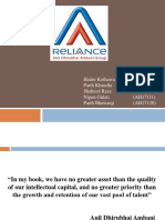 Reliance group HR policis