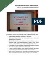 2da Conferencia_Ética en La Función - Una Obligación