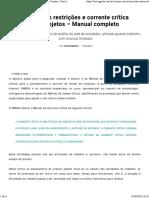 Teoria das Restrições e Corrente Crítica Aplicada a Projetos - Parte 1.pdf