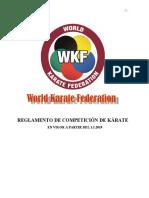 Reglas de  Competicion de la WKF 2019