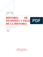 Historia de La Filosofía y Filosofía de La Historia- Andrés Tovar