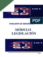Legislación Vigilantes módulos legislacion