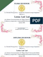 Diploma de Honor Flores