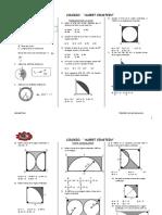 Geometría Tercero de Secundaria Area de Regiones Circulares