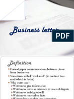 3 Business Letter Ppt