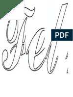 Moldes de letras para festejos natalinos