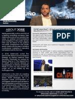 Jose Aristimuño - Speaking Services 2019