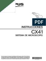 Cx41 Instrucciones Sistema de Microscopio