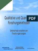 qualitative und quantitative forschung