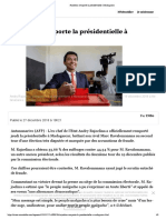 Rajoelina remporte la présidentielle à Madagascar