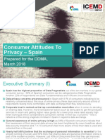 Consumer Attitudes to Privacy - Spain