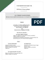 Touré - Le crime passionel (thèse de doct.)
