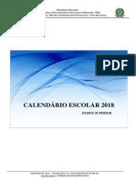Calendário 2018 Ensino Superior