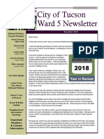 Tucson Vice Mayor Richard Fimbres' Ward 5 Newsletter - December 2018