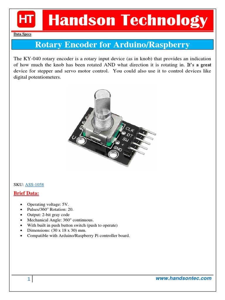 Arduino Code To Read Rotary Encoder