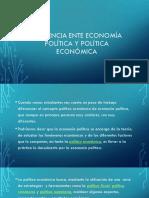 Diferencia Ente Economía Política y Política Económica