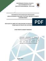 Educacao do campo no Plano Nacional de Educacao - PNE 2014-2024 - tramitacao do projeto de Lei n. 8035-2010