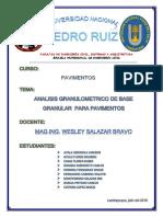 Informe de Granulometria Base Pavimentacion Avenida Saen Peña