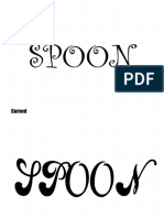 Different Adjectives to Define a Spoon