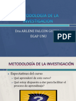 Metodologia de La Investigacion Clases 2018